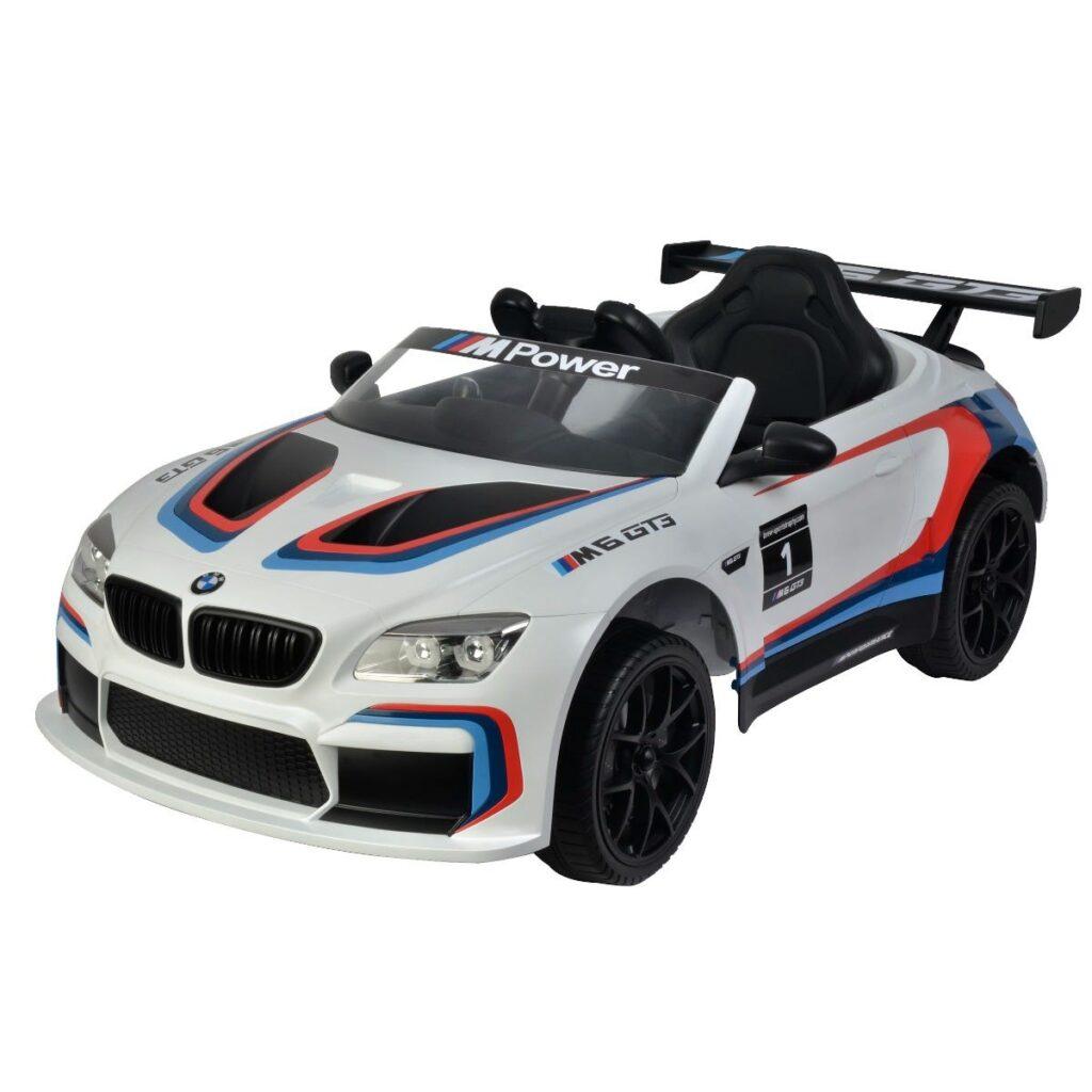 Elbil BMW M6 GT3 12V, vit
