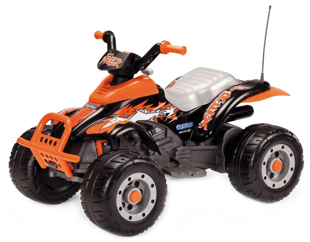 Elbil Peg Perego Corral T-Rex, Svart/Orange
