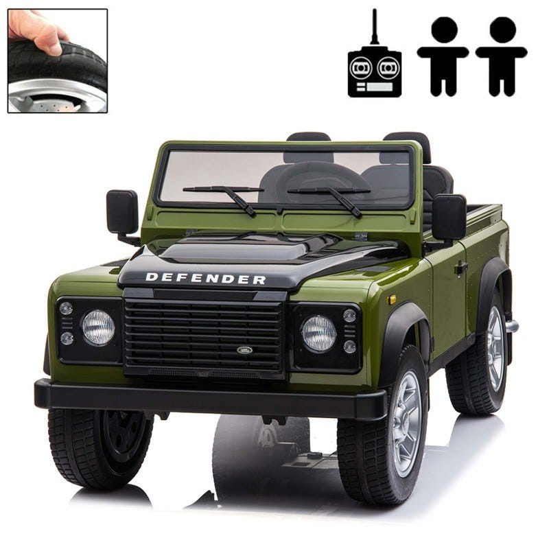 Elbil Land Rover Defender 4WD, Grön